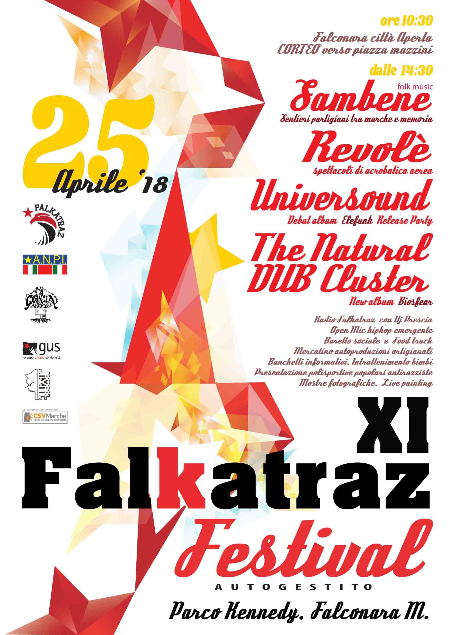 # FALKATRAZ FESTIVAL XI EDIZIONE 25APRILE2018 AL PARCO KENNEDY
